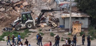 Roma housing demolition in Varna, Mladost district, Maksuda Roma neighborhood